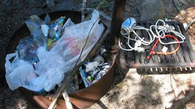 Voyagers National Park says visitors leaving behind trash in bear lockers, fire rings at campsites