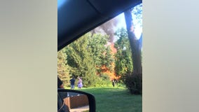 Authorities investigating large house fire in Oakdale, Minnesota