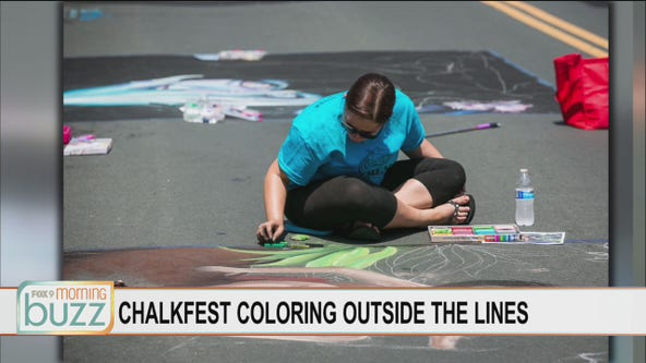 Chalkfest coloring outside the lines for annual festival