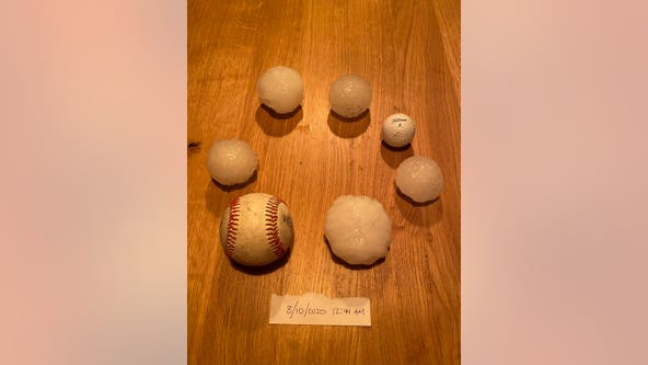 Baseball-sized hail, trees down as severe storms move through Twin Cities metro overnight