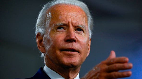 Biden claims he's picked a running mate, then cracks a joke