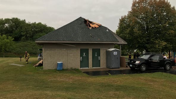 3 people evaluated for injuries after lightning hits park shelter in Lakeville, Minn.