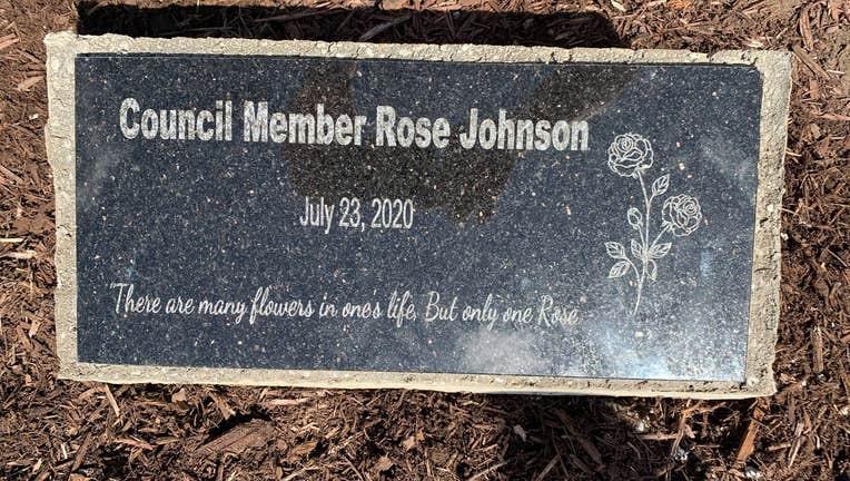 Rose Johnson memorial