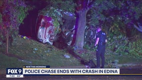 Police chase ends with crash in Edina, 6 taken to hospital