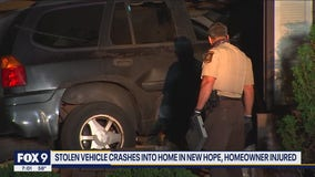 Fleeing suspect crashed car into home in New Hope