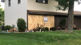 Fleeing suspect crashes stolen car into New Hope home, injuring homeowner