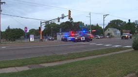 Pedestrian dies after being hit by car while crossing street in Columbia Heights, Minnesota