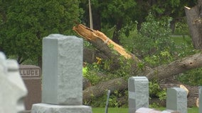 Visitors say Minneapolis cemetery is still a mess weeks after strong storms