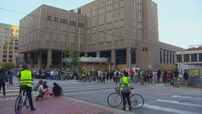 Protesters gather in downtown Minneapolis after Peavey Park encampment cleared out