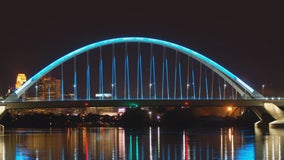 Minnesota landmarks go teal to mark Ovarian Cancer Awareness Month