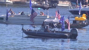 Pro-Trump boat parade fills waters of St. Croix River