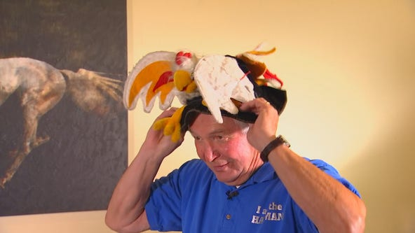 The Hat Man: Apple Valley man spreading message of positivity through quirky hat collection