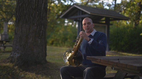 French horn player in search of practice spots brings Medieval magic to parks in southeast Minnesota