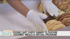 Cookie Cart celebrating with gourmet meals and virtual Chefs' Dinner