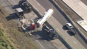 Semi rollover closes I-94 in both directions Monday near Albertville
