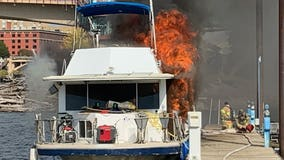 Officials investigate house boat fire near Harriet Island in St. Paul