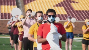 Gopher band returns with instrument wraps designed by Minnesota company