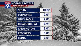 October storm dumps nearly 11 inches of snow on Sedan, Minnesota