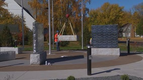Final stones placed for new Veterans Memorial Park in Cambridge