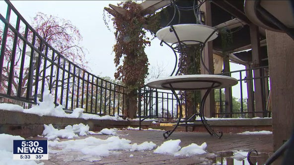 Snowy October impacts businesses amid COVID-19 impacts