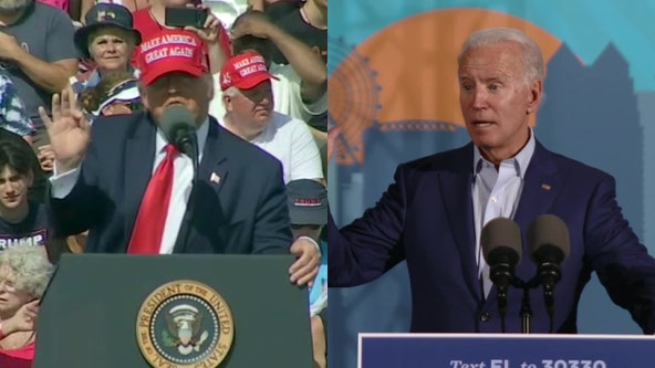 President Trump and Joe Biden host rallies in Minnesota ahead of election