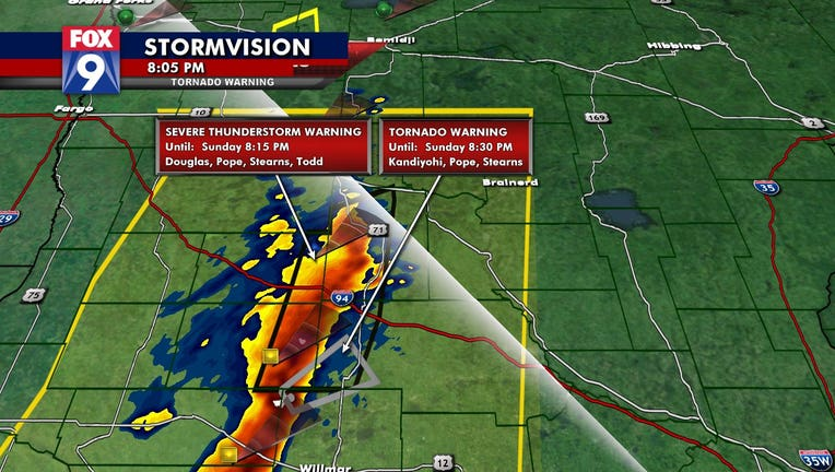 Tornado warning Minnesota