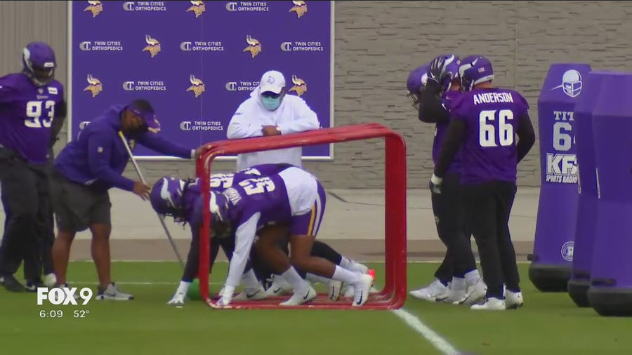 Vikings return to practice field following precautions for COVID-19 after Titans game