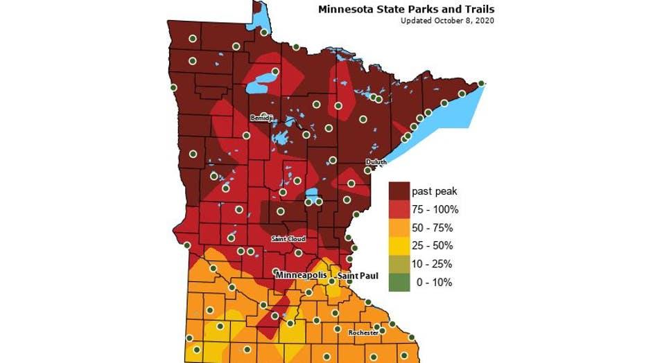 Minnesota peak colors