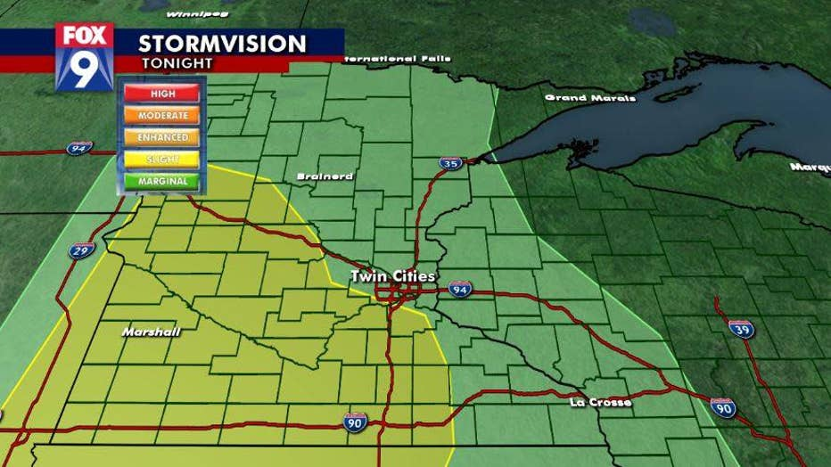 Strong storms possible for Minnesota