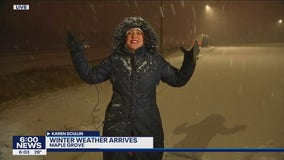 Snow arrives in the Twin Cities