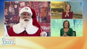 Ho ho ho! Santa still checking in with kids over Zoom this year (he dropped by the Buzz with some Christmas wishes)
