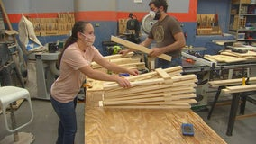 Woodworkers build desks for St. Paul students learning from home