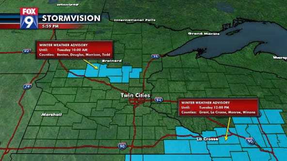 Mix of rain and snow expected in central, SE Minnesota Tuesday morning