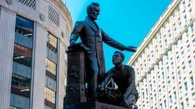 Boston removes statue of slave kneeling before Abraham Lincoln