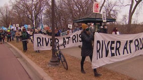 Protesters rally against Line 3 pipeline project after recent approvals in Minnesota
