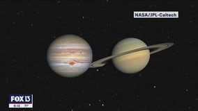 Jupiter and Saturn will appear to touch in closest conjunction since 1623