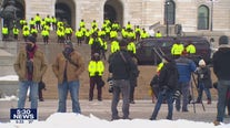 Minnesota capitol remains quiet as small rally gathers on Sunday