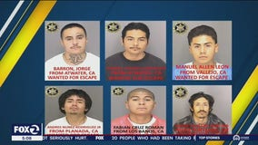 6 inmates escape from California jail with 'homemade rope'