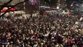 Thousands of Alabama fans pack streets celebrating Crimson Tide win despite COVID-19 warnings