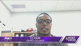 FOX 9 talks with Vikings player CJ Ham ahead of Sunday game