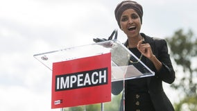 Rep. Omar unveils articles of impeachment for President Trump