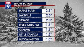Snow totals: Saturday snow blankets parts of Minnesota