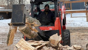 Minnesota man supplies firewood to restaurants, homeless encampments
