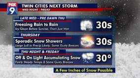 Winter storm with freezing rain, possible snow on its way to Minnesota