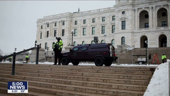 Visible increased security at Minnesota capitol as pro-Trump group rallies on Saturday