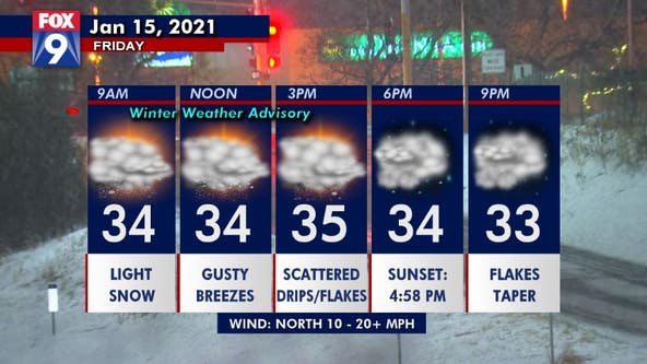 Light snow continues Friday, but bulk of accumulation done