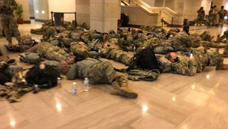 National Guard troops sleep on Capitol floor as House ...