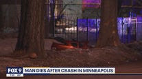 Man dies after overnight crash in Minneapolis