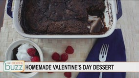 Easy chocolate pudding cake for Valentine's (you likely have the ingredients in your pantry)