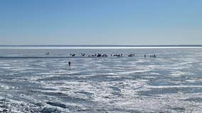 Dozens of anglers rescued from Lake Superior after ice breaks free